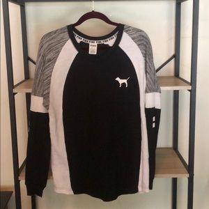 PINK Black V Neck Shirt